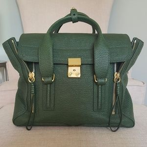 3.1 Phillip Lim Pashli Medium Satchel Jade Green